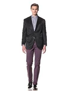 Domenico Vacca Men's Jacquard Blazer (Black)