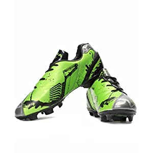 Nivia Oslar Green and Black Football Shoes 11