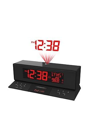 Labs Projection Clock FM Radio Negro