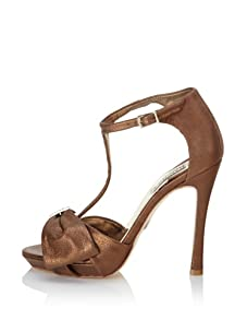Badgley Mischka Women's Shaw T-Strap Sandal (Bronze)