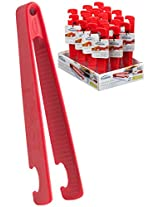 Trudeau Steel Toaster Tongs, Red