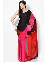 Georgette Red Saree Satya Paul