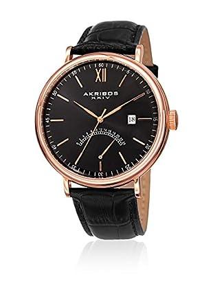 Akribos XXIV Uhr mit japanischem Uhrwerk  schwarz 49 mm