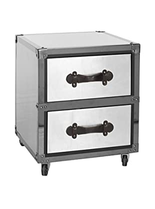 Safavieh Gage 2-Drawer Rolling Chest, Black-Silver
