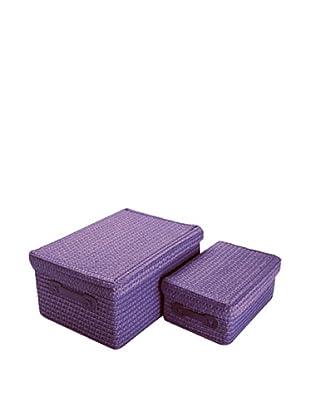 Zings Set 2 Cajas Rectangulares Violeta