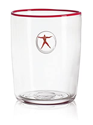 Kosta Boda Jupiter Wine Cooler (Clear/Red)