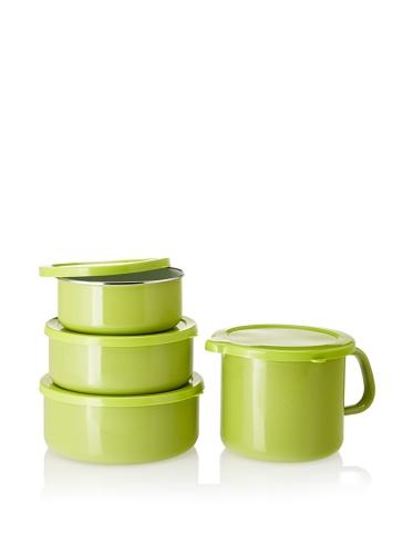 Reston Lloyd Calypso Basics 6-piece Bowl Set with 4-in-1 Mini Stock Pot (Lime)