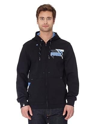 Puma Jacke Logo Hooded (black-blue yonder)
