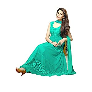 60 Gram Aqua Green Georgette Suit