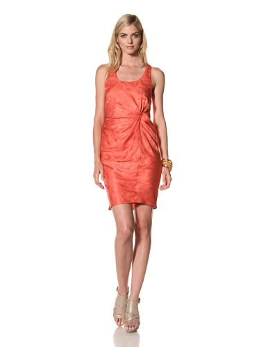 Thakoon Women's Side Gathered Jacquard Tank Dress (Coral)