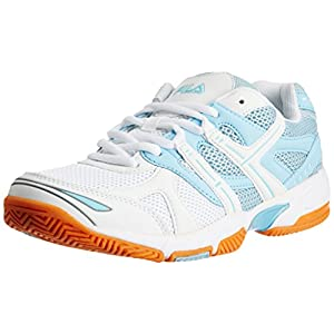 Fila Men's Champion White and Light Blue  Tennis Shoes -10 UK/India(44 EU)(11 US)