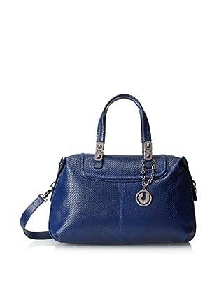 Charles Jourdan Women's Fifi Embossed Leather Convertible Satchel, Blue