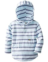Lucky Brand Little Boys' Oxford Hooded Yarn Dye Pullover, Aquatic, 2T