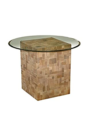Jeffan Sequoia Glass-Top Dining Table, Natural