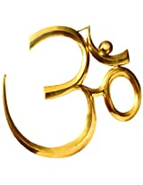 Exotic India Large OM (AUM) Wall Hanging - Brass Sculpture