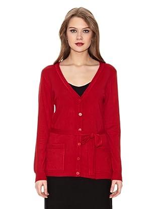 Assuili Cárdigan Con Cinturón (Rojo)