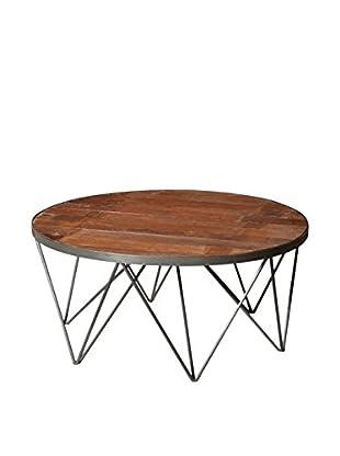 Moti Napa Round Coffee Table, Brown