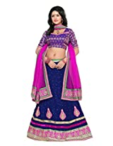Surupta Blue Self Design Women's Lehenga Choli