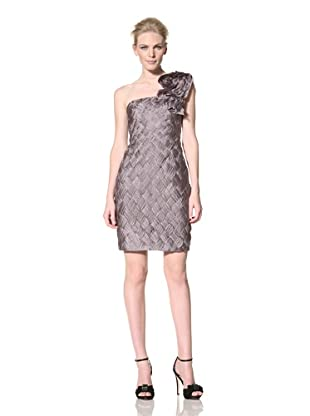 Mikael Aghal Women's Woven Cocktail Dress (Platinum)