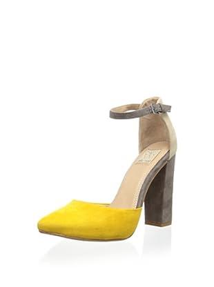 Ella Moss Women's Janie Ankle Strap Pump (Mustard)