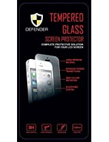 DEFENDER Premium 9H Shatterproof Diamond Series Tempered Glass Screen Protector with Disinfectant Wipe For Apple iPhone 5 / 5s