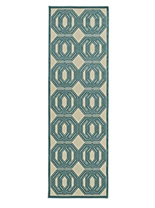 Kaleen Five Seasons Indoor/Outdoor Rug, Blue, 2' 6