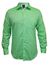 Peter England Light Green Casual Shirt
