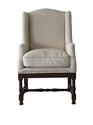 Mélange Home Darcy Linen Armchair, White