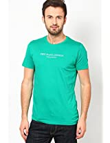 Green Crew Neck T Shirts