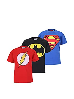 DC Comics Set 3 Pezzi T-Shirt Manica Corta Pack 4