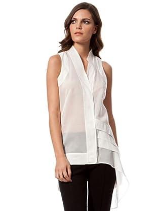 Caramelo transparente Bluse (Weiß)