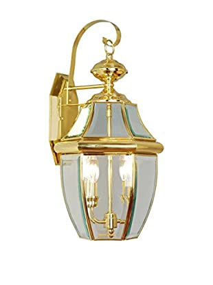 Crestwood Mabel 2-Light Wall Light, Polished Brass