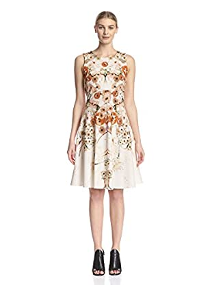 Sfizio Women's Abstract Floral Fit & Flare Dress