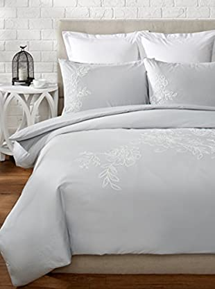 Mélange Home Camellia Embroidered Duvet Set
