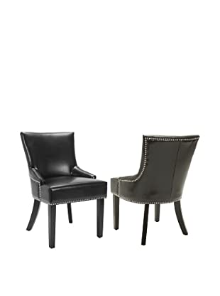 Safavieh Set of 2 Lotus Side Chairs, Black