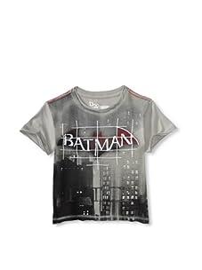 Kid's Republic Boy's Black Shadow Batman T-Shirt (Silver)
