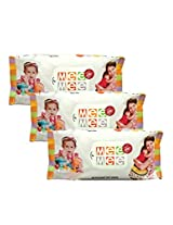 Mee Mee Baby Wet Wipes (3 Packs, 80 Sheets per Pack)