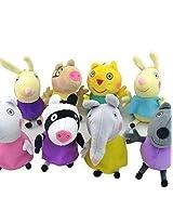 Andp Peppa Pig Baby Pepe George Friends Stuffed Toy Plush Doll (8pcs/Lot)
