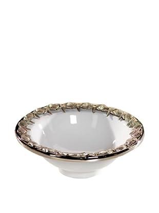 Ceramic Bowl with Starfish Trim (White)