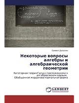 Nekotorye voprosy algebry i algebraicheskoy geometrii: Kategornaya teoriya Galua s prilozheniyami k algebraicheskim krivym.   Obobshchennaya zhordanova normal'naya forma