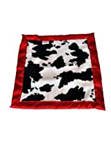 Patricia Ann Designs Satin Flat Binding Travel Silkie, Cow with Red