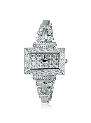 Adee Kaye Women's 19-L/C Silver/Crystal Brass Watch