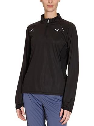 PUMA Langarmshirt Half Zip (Black/Black)