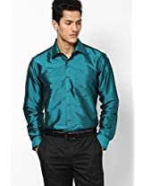 Solid Green Formal Shirt Copperline