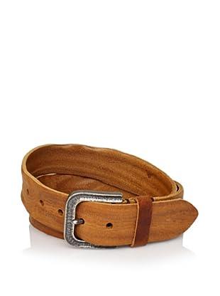Will Leather Goods Men's Wide Wrinkled Belt (Tan)