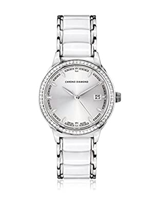 Chrono Diamond Reloj con movimiento cuarzo suizo Woman 10410E Thyrsa Blanco 34.0 mm