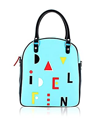 davidelfin Bolso asa de mano Name Game Bag Azul