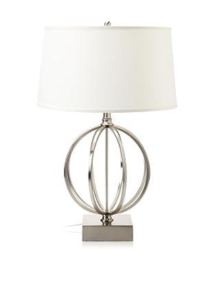 Lighting Enterprises Globe Table Lamp (Satin Nickel)