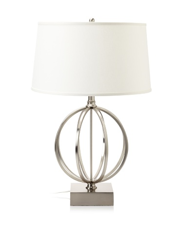 Lighting Enterprises Globe Table Lamp (Satin Nickel)