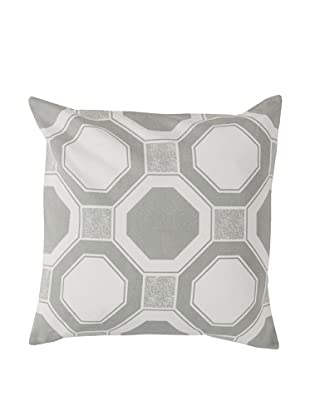 Surya Geometric Throw Pillow, Whisper White
